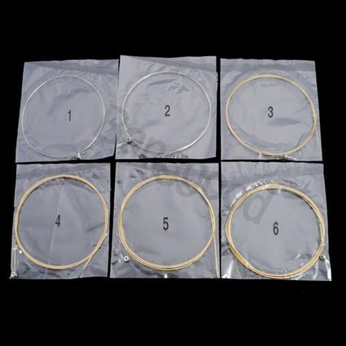 Music-S  6Pcs Metal Strings for Acoustic Guitar 1 Meter 1M New amumu traditional weaving patterns cotton guitar strap for classical acoustic folk guitar guitar belt s113