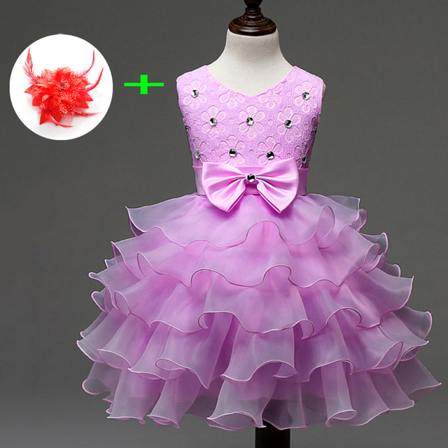 Beautiful formal wear for kids girls birthday clothes 0 to 8 years ...