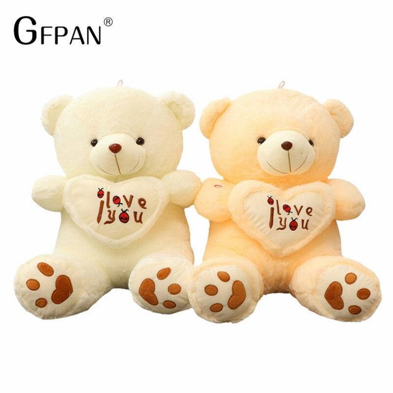Новый Огромный Размеры Kawaii мягкие игрушки проведение я люблю тебя сердце симпатичный плюшевый мишка День Святого Валентина День рождения п...