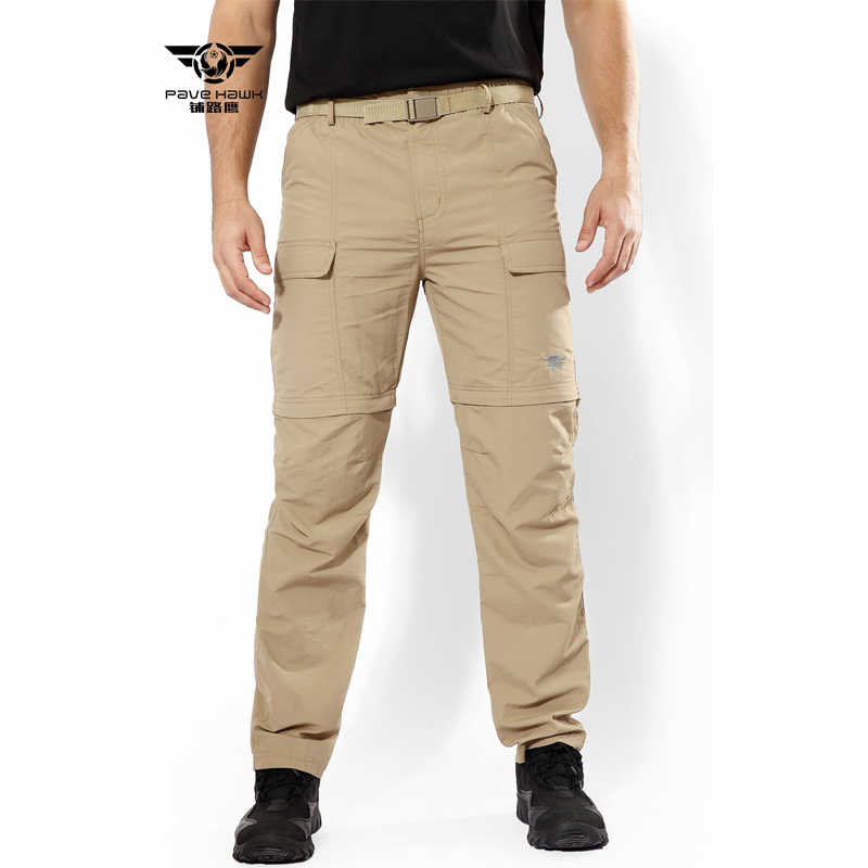 d83519e0f ... Camo Pant Cargo Military Army Detachable Tactical Pant Quick Dry Cargo  Trousers Brand Outdoor Sport Hiking ...