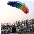 Dual Power linha conluio Parafoil Parachute íris esportes praia Kite para iniciante com ferramentas vôo frete grátis