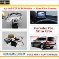 """No Carro 4.3 """"cor LCD Monitor + Car Rear Back Up Da Câmera = 2 em 1 Sistema De Estacionamento Parque-Para Volvo V70 XC 70 XC70"""