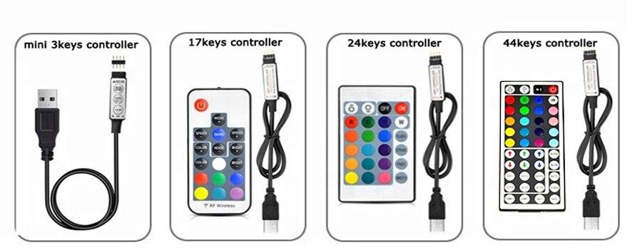 TV Backlight RGB LED Strip 5050 Waterproof 5V USB LED Tape String Bias lighting For HDTV Screen Desktop PC LCD Monitor Decoration (8)