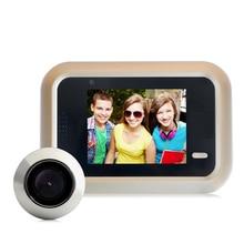 DANMINI 2,4 дюймов цветной экран цифровой дверной звонок 160 градусов глазок дверной Глаз Камера Запись Мини Открытый монитор камера