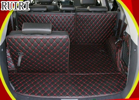 Free shipping! Special trunk mats for Hyundai Grand Santa Fe 7 seats 2018-2013 durable cargo liner boot carpets for Santafe 2017