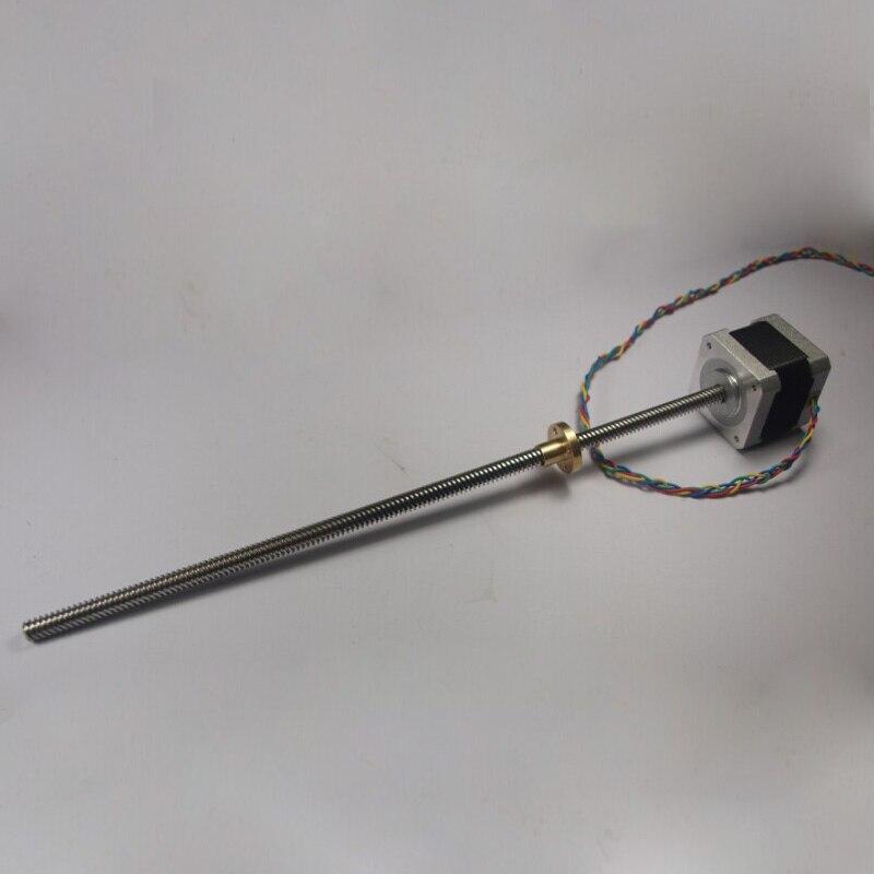 Ultimaker 2 moteur Z 400mm étendu avec vis à tête trapézoïdale TR 8*8 (P2) pour bricolage UM 2 imprimante 3D étendue Z Mot pas à pas