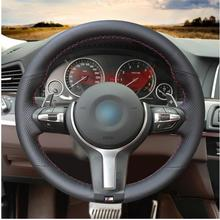 Genuine Leather Hand Sew Steering Wheel Cover for BMW F87 M2 F80 M3 F82 M4 M5 F12 F13 M6 X5 M F86 X6 M F33 F30 M Sport for bmw m2 carbon gear base cover m2 f87 e92 m3 f80 m4 f82 f10 m5 m6 f85 x5m f86 x6m gear surround cover for right hand drive