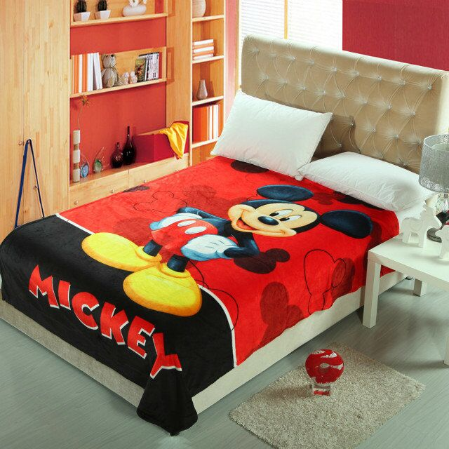 Cartoon Mickey Mouse 3D Printed Blankets Throws Bedding 150200CM Size Boys Baby Childrens Kids