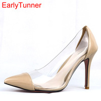 Hot Sale Brand New Black Red Sweet Women Party Formal Pumps Apricot High Heel Sexy Lady