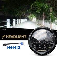 75W Led Headlight 35W Hi Lo Beam 6000K Dc 12V 24V Daytime Running Lights H4 For Jeep Wrangler Jk Lada 4×4 Offroad