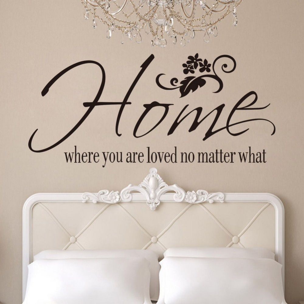 Quotes On Home Free Shipping Wall Art Decals Quotes Home Where You Are Loved No
