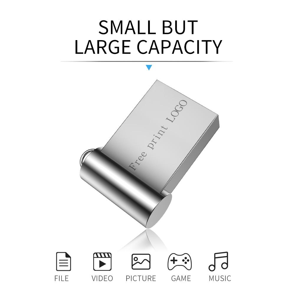 Super Mini Usb Flash Drive 32GB 16GB 64GB 128GB Pen Drive 4GB 8GB USB 3.0 Flash Memory Stick Metal Pendrive Waterproof Usb Stick (5)