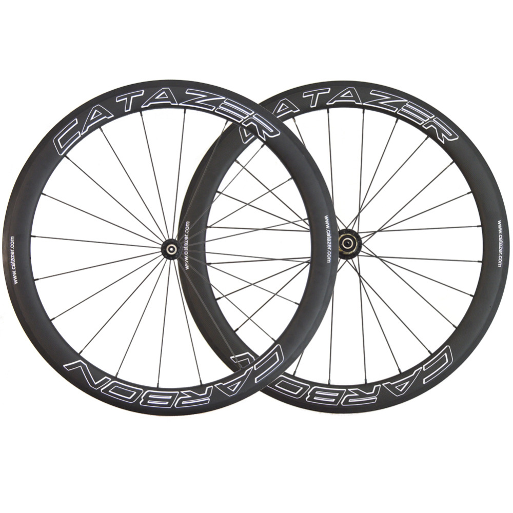 Full 700 Carbon Wheel Carbon Fiber Road Wheel 25x50mm Tubular Clincher Carbon Wheelset Bicycle With Basalt Brake Surface