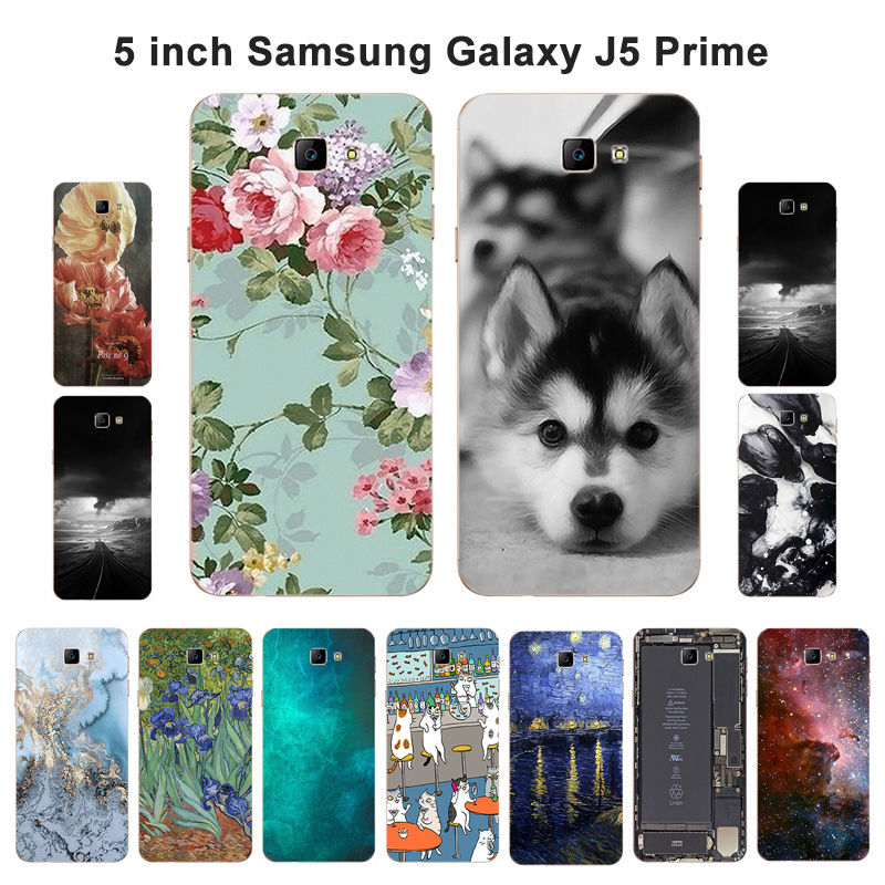 Galleria fotografica For Samsung Galaxy J5 Prime on5 2016 Case Silicon Soft TPU Cover Scenery Dog Picture Painted 5.0