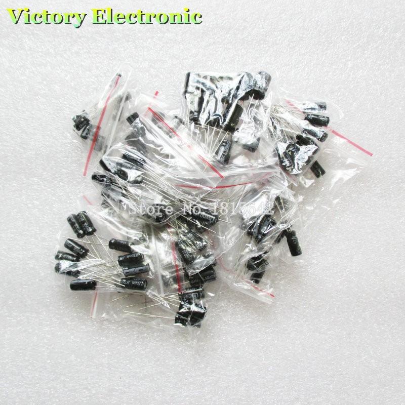 120 шт./лот 12 значения 0.22 мкф-470 мкф алюминий электролитические конденсатор ассортимент комплект набор