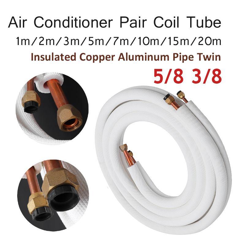 5/8 3/8 isolé cuivre tuyau climatiseur raccords paire bobine Tube isoler cuivre aluminium tuyau Split ligne fil maison
