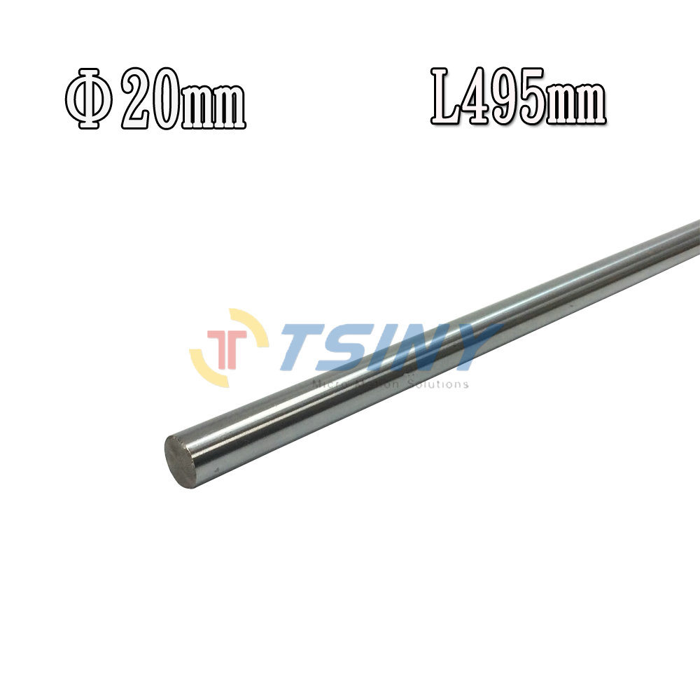 1PCS Outer Diameter OD 20mm Length 495mm Cylinder Liner Rail Linear Shaft Optical Axis Cylinder Liner Rail Linear Shaft 1pcs lot chroming gcr15 outer diameter od 25mm x 400mm cylinder liner rail linear shaft optical axis