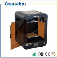 Latest Upgraded New Version Single Extruder Createbot Mini 3D Printer Machine with Advanced Touchscreen and Heatbed