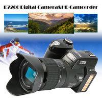 POLO D7200 Digitale Camera 33MP Auto Focus Professionele SLR HD Video Camera 24X + Telelens Groothoek Lens LED Licht vullen + Tas
