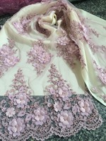 3d flower african Net Lace High Quality French Voile Guipure tulle mesh Lace Fabric Z han32138