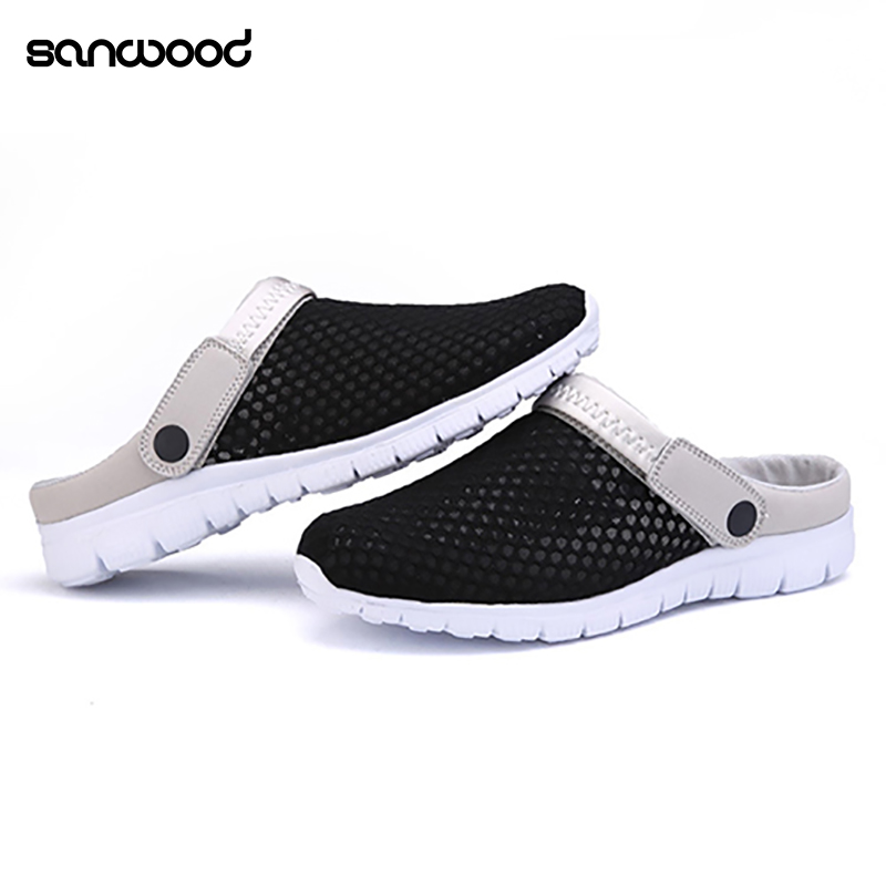 2016 New Fashion Men Summer Casual Hollow Sandals Mesh Beach Slippers Flat Leisure Shoes 2016 new men fashion