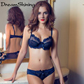 DreamShining 2016 New Fashion Quality Sexy Underwear Women Bra Set deep-V Lace Bra Sexy Lace Brand Push Up ABC Cup Lingerie Set