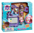Doc McStuffins Mini Clinic Playset in Bag Case with Doc & Lambie Mini Figures & Accessories Toys Dolls for Girls Christmas Gifts