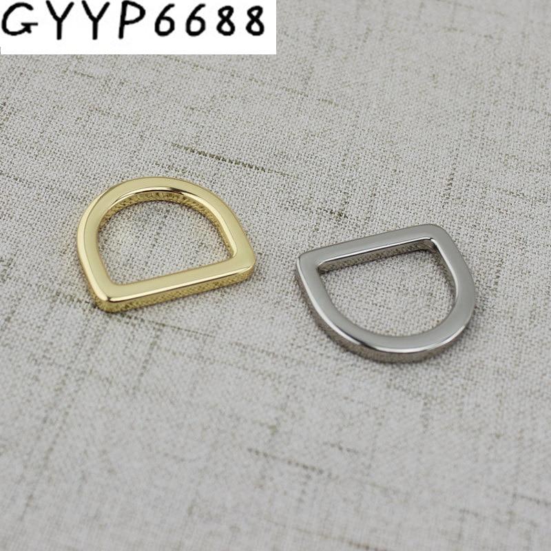 10pcs 50pcs 20mm High Quality Welded Belt Strap D Ring Handbag Webbing Adjusted Alloy Quare Edge D Ring
