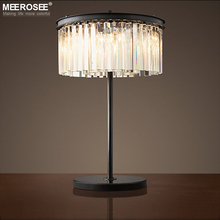 Vintage Crystal Table Lamp Desk Light Crystal Table Lustres de Cristal Lighting lamparas de mesa para el dormitorio стоимость