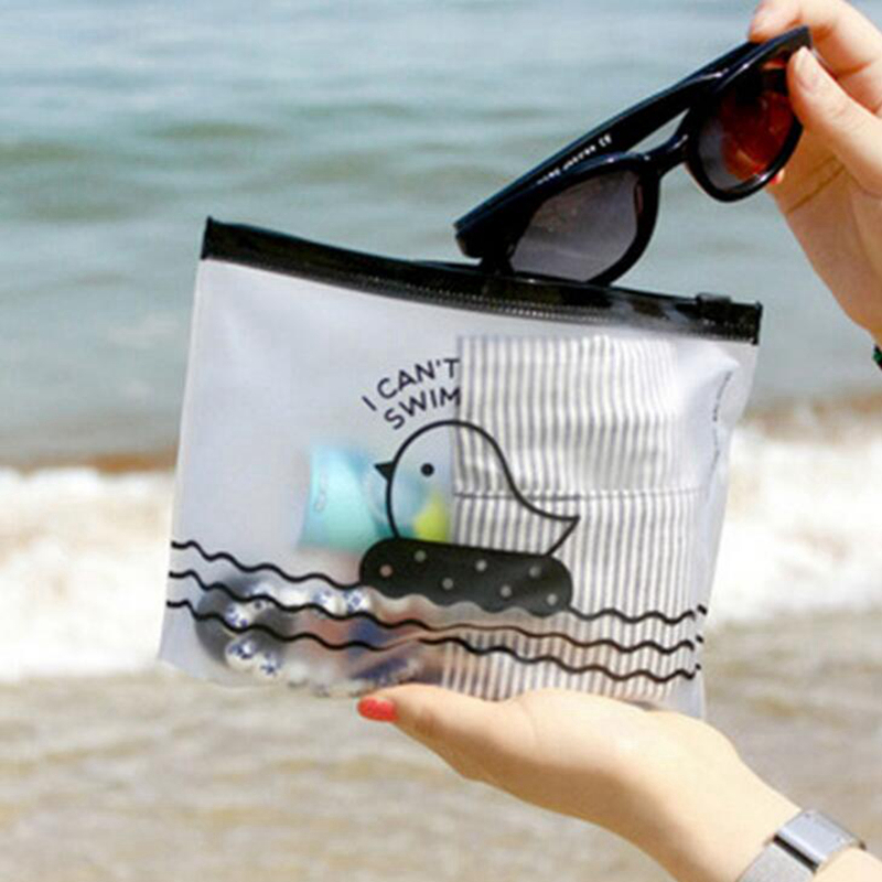 Fashion Clear Cosmetic Bags Women Animal Duck PVC Transparent Toiletry Travel Organizer Beauty Case Makeup Bag Wash Make Up Box women clear cosmetic wash bags fashion pvc toiletry bags travel organizer necessary beauty case makeup bag bath make up box