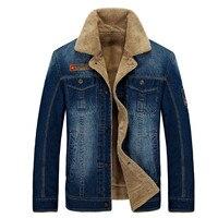 New Fleece Thicken Winter Jacket Men Casual Denim Winter Coat For Men Outdoor Moto Coats Brand