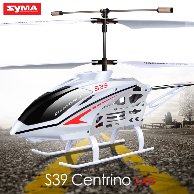 Syma S39 3CH 2.4G RC Helicopter Quadrocopte Romote Control With Colorful Flashing Lights Anti-Shock Function For Boys Kid Gift