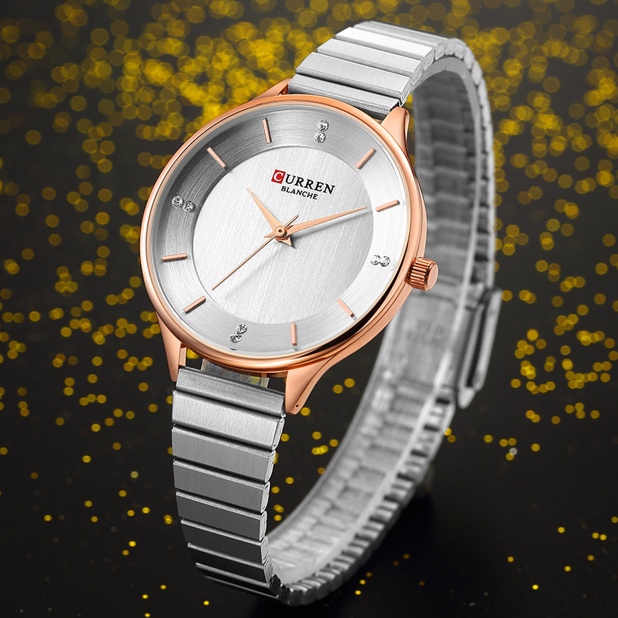 CURREN Small Dial Women Watches Top Brand Luxury Stainless Steel Women Watch Silver Ladies Fashion Quartz Women's Wrist Watches(China)