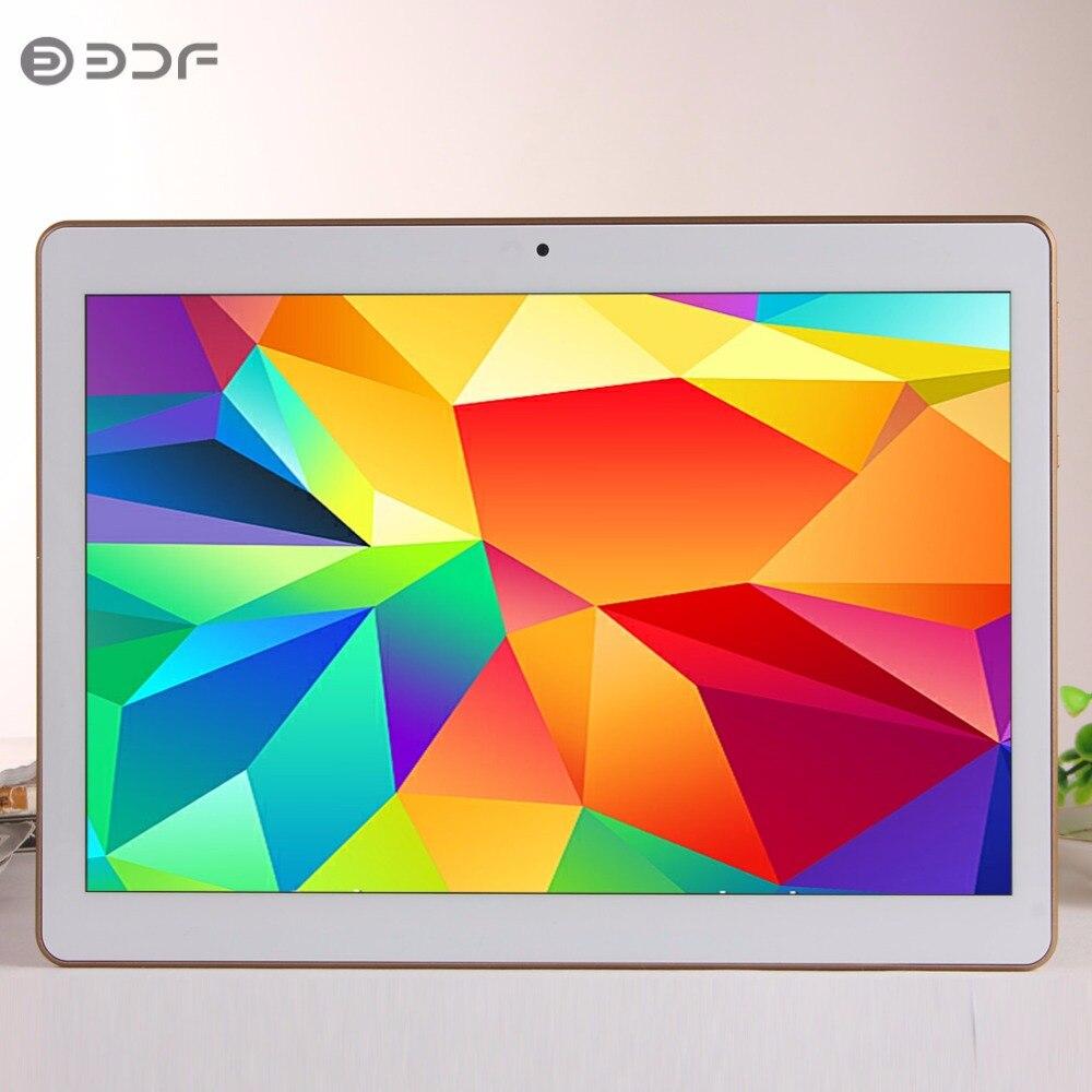 (Russia Spain USA Ship) BDF 10 Inch Dual SIM 3G Phone Table Pc 4GB+64GB Android 7.0 Tab Octa Core Bluetooth WiFi IPS Tablet 10.1