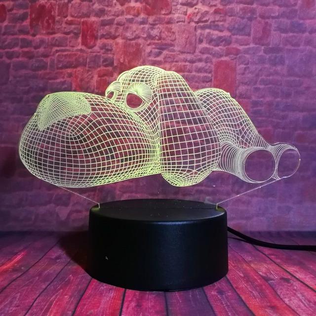 3D LED Hologram – Nočné svetlo – Papa Dog