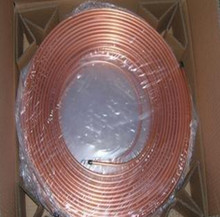 1M 3mm*0.5mm TPm2 Red Copper coil(pipe),Copper pipe,air-condition Copper tube(pipe),T2 material 99.9% laptop heat pipe