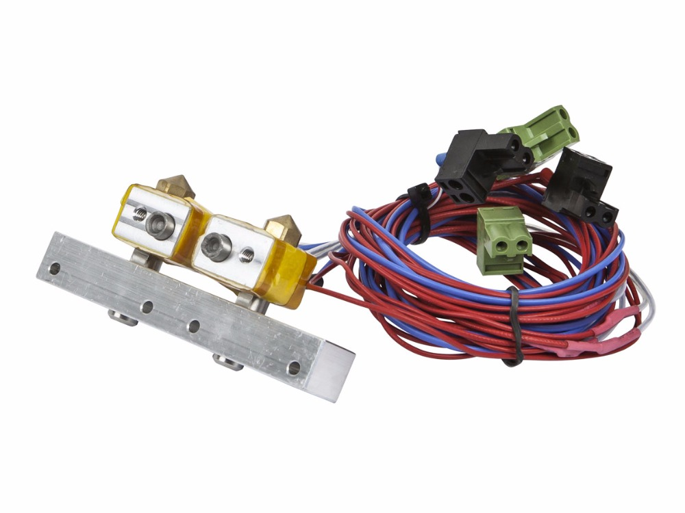 A Funssor 3D Printer MK10 Extruder Heating Assembly Replacement kit for Monoprice Dual Extrusion Maker Architect 3D Printer part