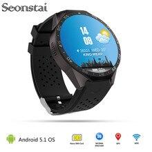 ใหม่kw88 android 5.1 smart watch 512 mb + 4กิกะไบต์บลูทูธ4.0 wifi 3กรัมs mart w atchโทรศัพท์นาฬิกาข้อมือสนับสนุนgoogleเสียงจีพีเอสแผนที่