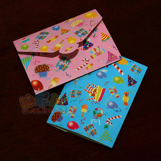 New 20PCS HAPPY B DAY Party Childrens Birthday Invitation Card Baby Supplies Cards Free Shipping