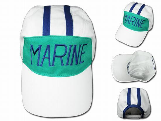 Anime One Piece Marine Cosplay Baseball Hat Cotton Striped Embroidery Summer Sports Adjustable Cap Gift