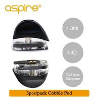 3 шт./упак. Aspire Cobble Pod 1,8 мл ёмкость 1.4ohm нихрома катушки Vape Pod системы картридж распылитель для электронных сигарет