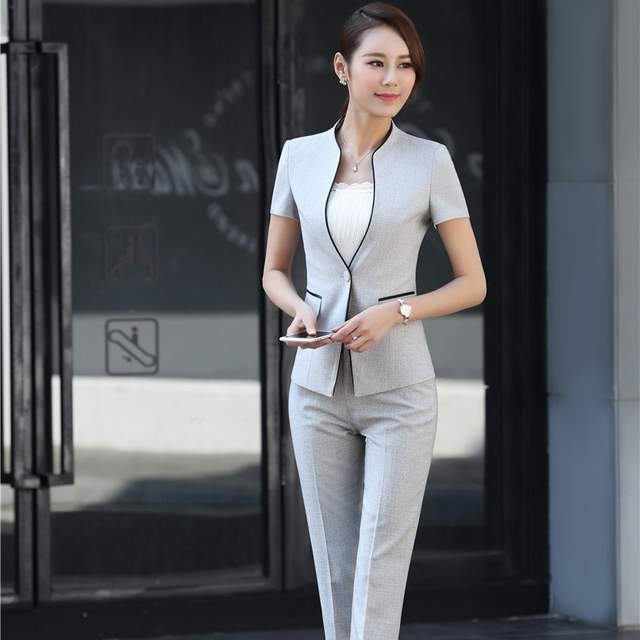 417b6145c3ca5 Online Shop 2017 Summer Formal Professional Business Women Suits With  Jackets And Pants Female Trousers Sets Summer Blazers Outfits | Aliexpress  Mobile