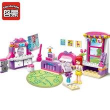 2001 ENLIGHTEN Girls Friends Cherry Bedroom Model Building Blocks Classic Action Figure Toys For Children Compatible