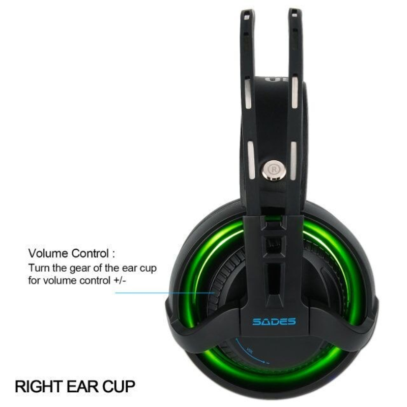 Sades r2 gaming headset stereo ses bilgisayar kulaklık usb solunum - Taşınabilir Ses ve Görüntü - Fotoğraf 5