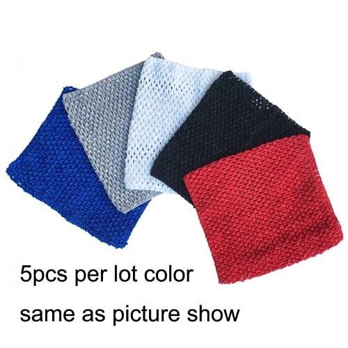 Вязаные топы-пачки длиной 9 дюймов, 20x23 см, платье-пачка для маленьких девочек, топы с бретельками, 5 шт. в партии - Цвет: color as picture 4