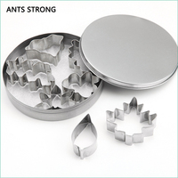 ANTS STRONG DIY 3D stereo cookie mold set/7pcs stainless steel biscuit mold cake baking mold suite supplies gadgets