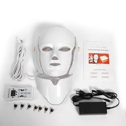 7 Colors Photon Electric LED Facial Mask Neck Skin Rejuvenation Facial Massager LED Therapy Machine Beauty Treatment
