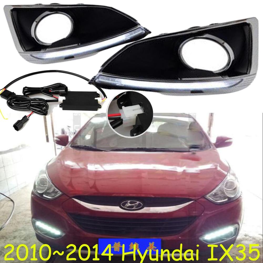 ФОТО Car-styling,IX35 daytime light,2010~2016,chrome,LED,Free ship!2pcs,car-detector,IX35 fog light,car-covers,Tucson,IX25,IX 35