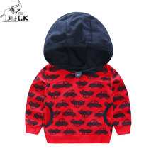I.Ok Baby Boy Sweatershirts Car Snowflake Printing Shirts Spring Autumn Children Kid Hooded Long Sleeves Fashion Warm Tops LT1010