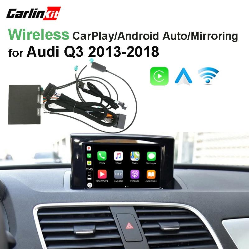 2019 Carro CarPlay Android Auto Decodificador Sem Fio Da Apple para Audi  MMI Q3 2013-2018 Tela Original imagem Inversa Retrofit kit
